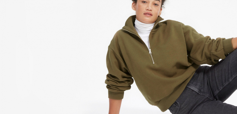 Everlane Just Updated Your Favorite '90s Fleece Sweater Into Something Super Chic