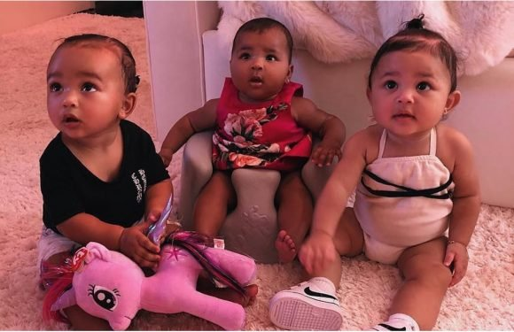 "Kim Kardashian's Photo of the Kardashian-Jenner ""Triplets"" Is a Whole New Level of Cute"
