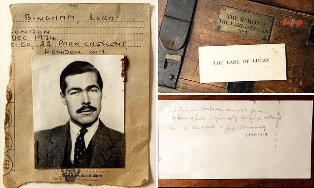 AA card Lord Lucan left at scene of nanny murder goes under hammer