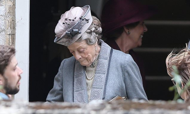 Downton Abbey movie: Dame Maggie Smith seen on set for FIRST time
