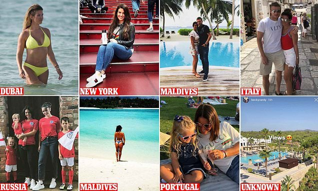 Rebekah Vardy goes on her EIGHTH holiday of the year