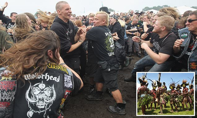 Heavy metal mosh pits mimic rituals of remote rainforest tribes