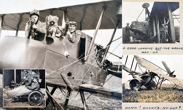 Fascinating photo album reveals the off-duty antics of WW1 flying aces