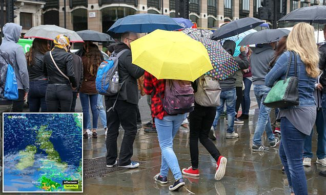 Britain hit by rainy and blustery weather in the wake of Storm Bronagh