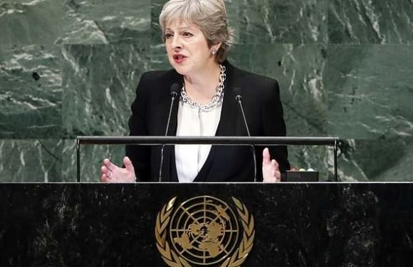 Prime Minister Theresa May blasts Vladimir Putin at UN