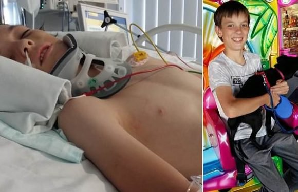 Boy is put in coma after 'altercation' at school canteen