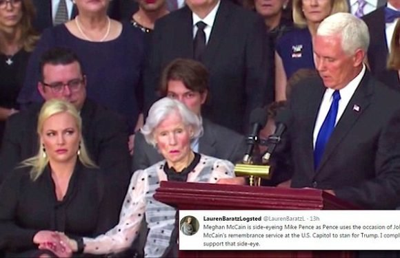 Meghan McCain caught on camera throwing SIDE EYE at Mike Pence