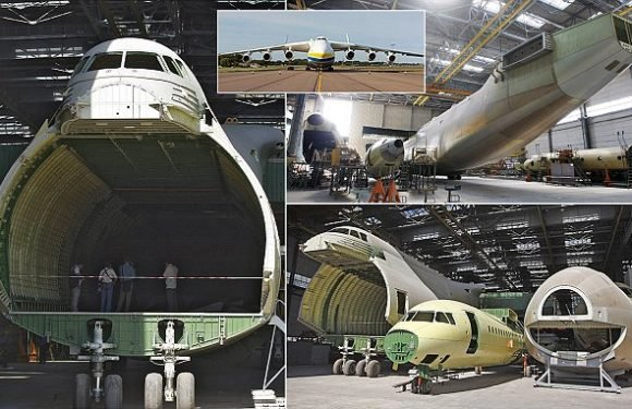 Revealed: Hidden twin of the world's biggest aircraft Antonov AN-225