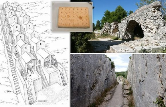 Roman 'biscuit factory' powered by water wheels made food for sailors