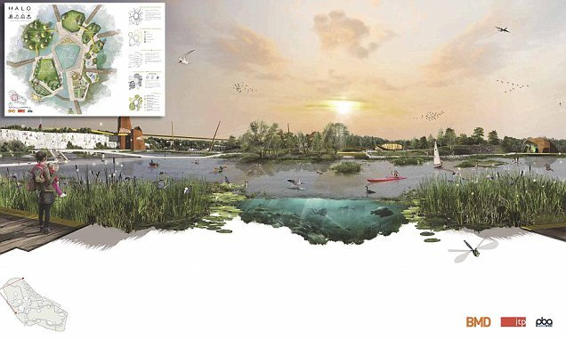 A series of man-made 'eco islands' with floating hotels set for UK