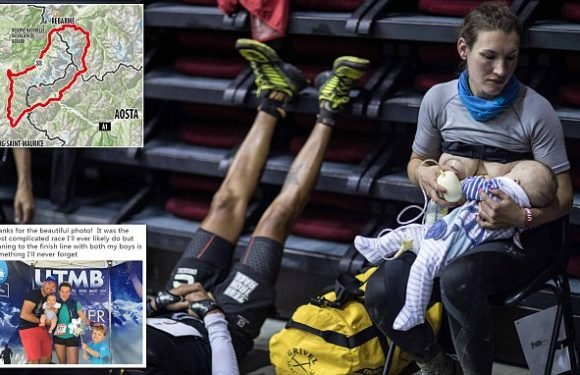 British runner stops to breastfeed three-month-old son in 106mile race