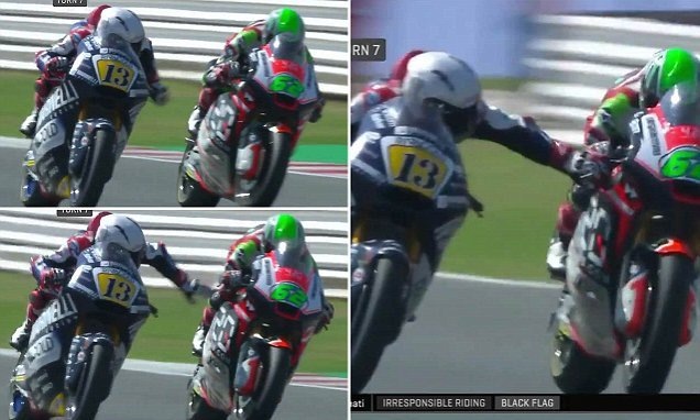 Motorcyclist who grabbed rival's brakes at 140mph is banned until 2019