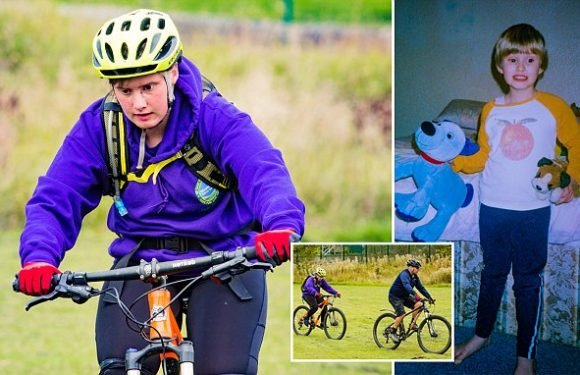 Blind cyclist becomes first in UK to ride 30-mile trail independently