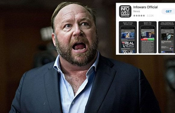 Apple bans the Infowars app from its store for 'objectionable content'