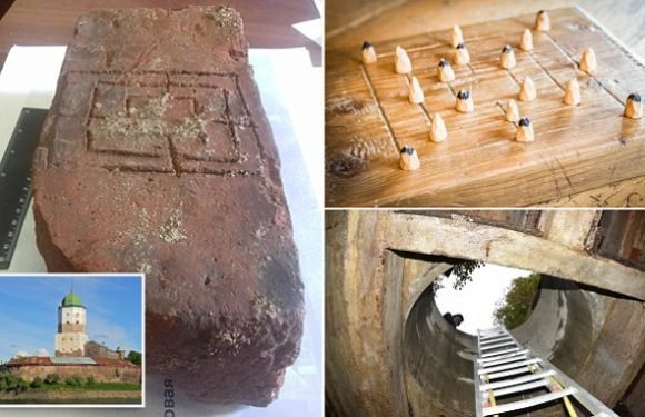 Medieval board game is found in a secret chamber under Russian castle