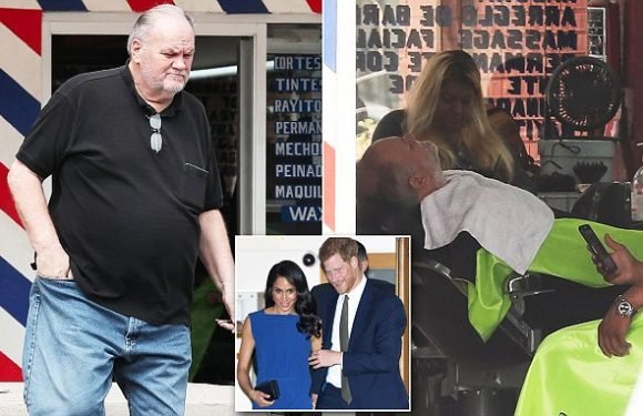 Thomas Markle gets a hair cut and beard trimbefore stopping by Subway