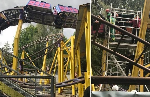 Children scream as 'wheel flies off' ride and leaves them in mid-air