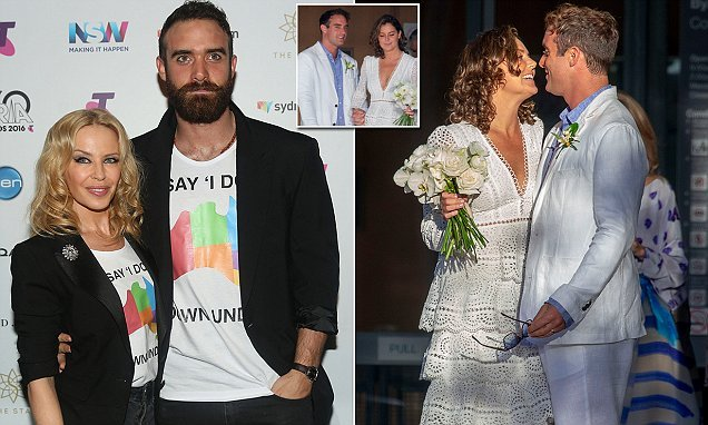 Kylie Minogue's ex, Joshua Sasse, ties the knot in Byron Bay