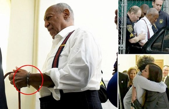 Bill Cosby is handcuffed and led straight to prison after sentencing