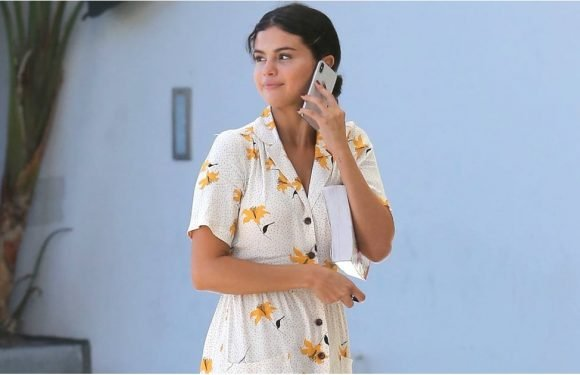 Hey Selena Gomez, a Shirtdress and Sneakers Really Never Looked So Good