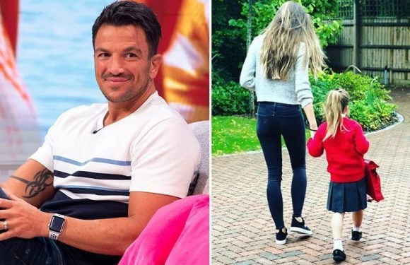 Peter Andre posts rare picture of daughter Amelia as she sets off for her first day at school with mum Emily