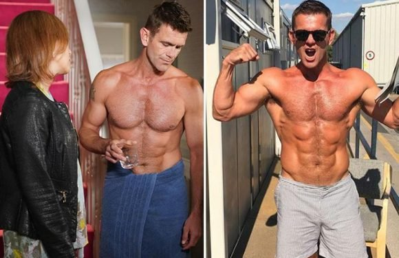 Eastenders Scott Maslen shows off new fit body as topless Jack Branning appears in nothing but a towel