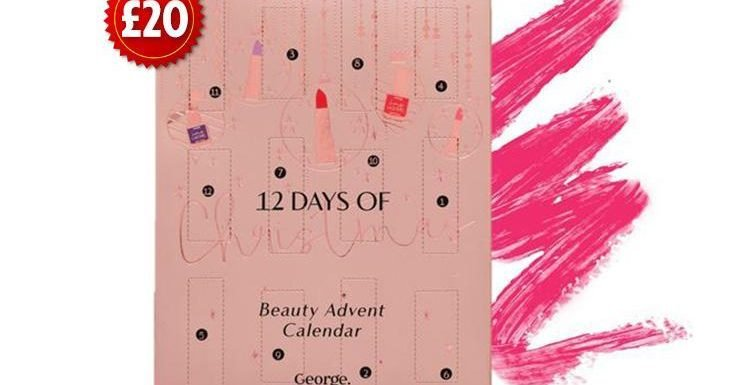 George at Asda is selling its first beauty advent calendar – with £30 worth of products for just £20
