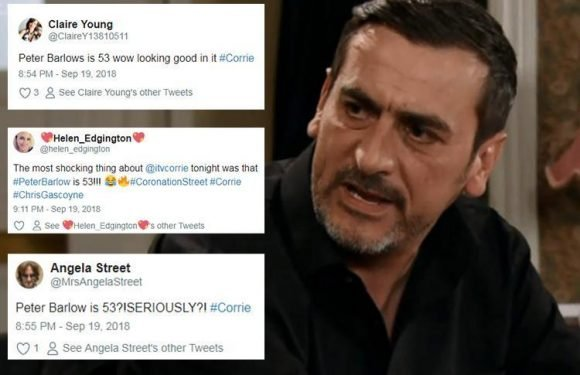 Coronation Street fans as amazed as Peter Barlow reveals he is 53 years old