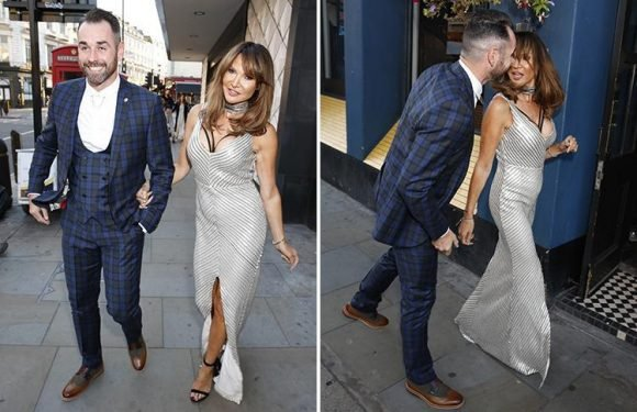 Ben Jardine arrives at National Reality TV Awards with Lizzie Cundy days after they were reportedly spotted kissing