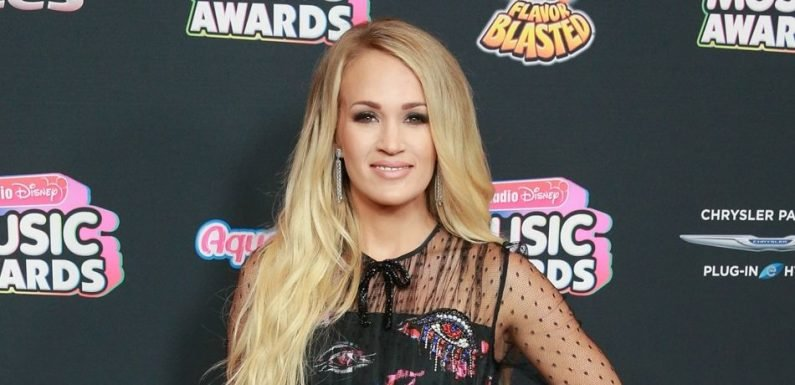 Carrie Underwood Puts Growing Baby Bump On Full Display During Family Outing At Disneyland