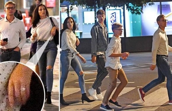 Jeff Brazier's new wife Kate Dwyer flashes her wedding ring on trip to the theatre three days after wedding in Portugal