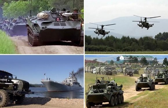 Russia stages biggest war games EVER with 300,000 troops marching alongside Chinese soldiers for the first time