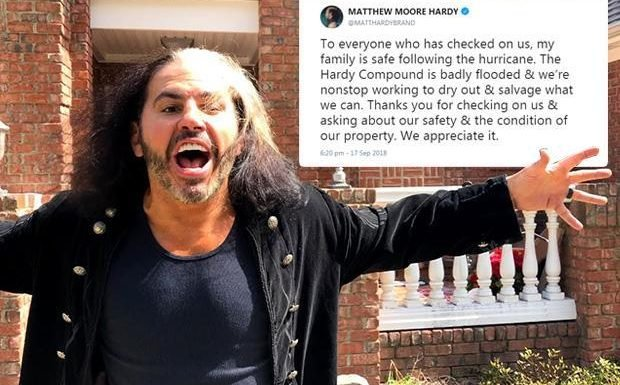 WWE news: Matt Hardy's famous 'Hardy Compound' badly flooded in Hurricane Florence