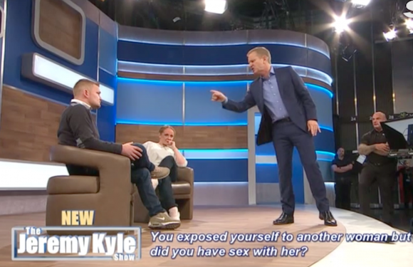 Jeremy Kyle goes on a furious rant at guest who got so drunk before the show he couldn't take a lie detector test