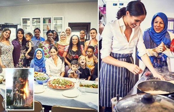 Meghan Markle makes secret trips to Grenfell Tower group and helps them launch cookbook in her first solo project as Royal