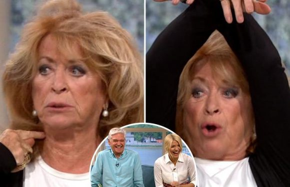 This Morning fans in hysterics as author Lynda La Plante pretends to be a dead body and blows a raspberry during hilarious interview
