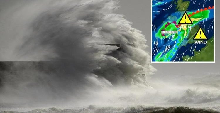 Now Storm Bronagh to batter Britain with FOUR INCHES of rain and flooding as weather turns its wrath on England