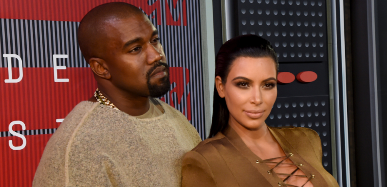 Kim Kardashian Just Posted A Hilarious Photo Of Saint West Pretending To Be Kanye On Instagram
