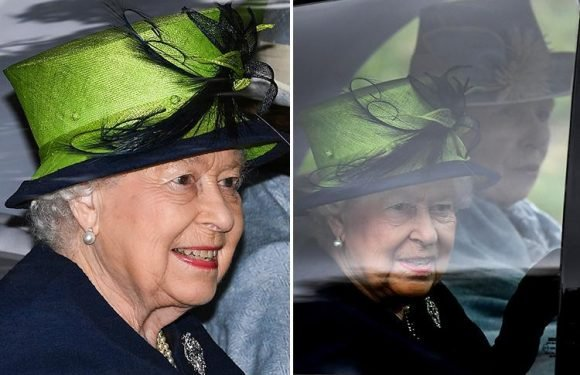 The Queen is all smiles as she attends church at Balmoral with Princess Anne