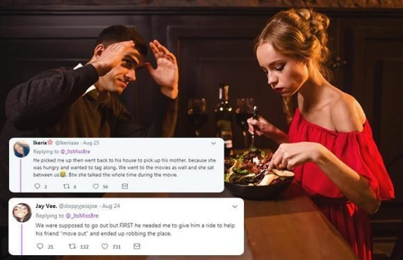 Women are sharing their biggest dating disasters… from being arrested to having their date's mum tag along