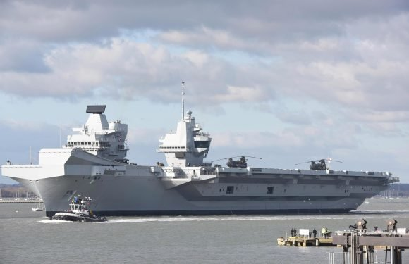 Two drunk Royal Navy sailors TASERED by US cops on Britain's new £3billion aircraft carrier HMS Queen Elizabeth's maiden voyage