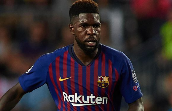 Barcelona star Samuel Umtiti facing six months out with knee ligament damage