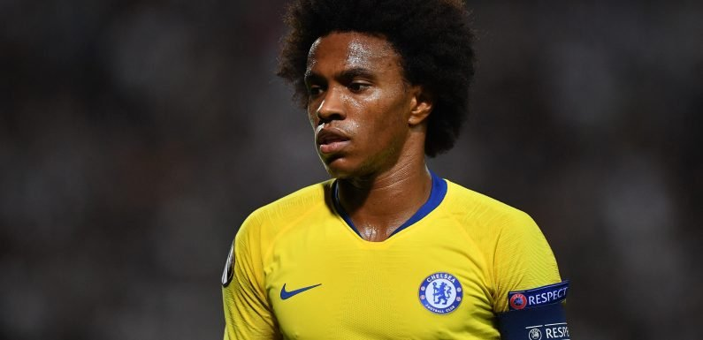 Chelsea rejected £65m bid from Barcelona for Willian as Manchester United circle