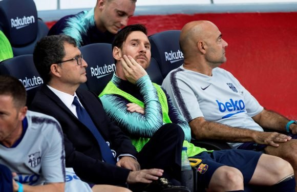 Barcelona boss Ernesto Valverde explains decision to bench Lionel Messi in Athletic Bilbao draw