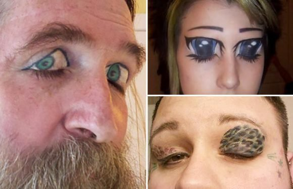 From 'extra eyes' to permanent make-up… these are world's most bizarre EYELID tattoos