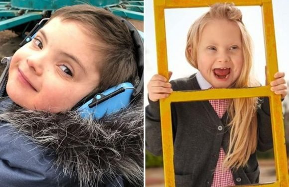 Two kids with Down's syndrome win Marks and Spencer modelling deals… and they can't stop smiling