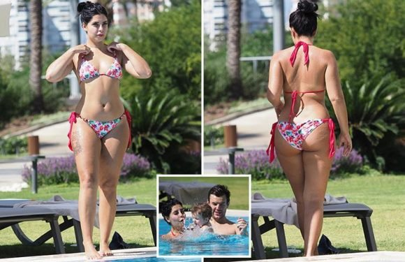 Cara De La Hoyde shows off her incredible post-baby body in a bikini on family holiday in Turkey with Nathan Massey and son Freddie