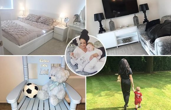 Inside Stephanie Davis' house with stunning chandeliers, a piano and personalised furniture for Caben