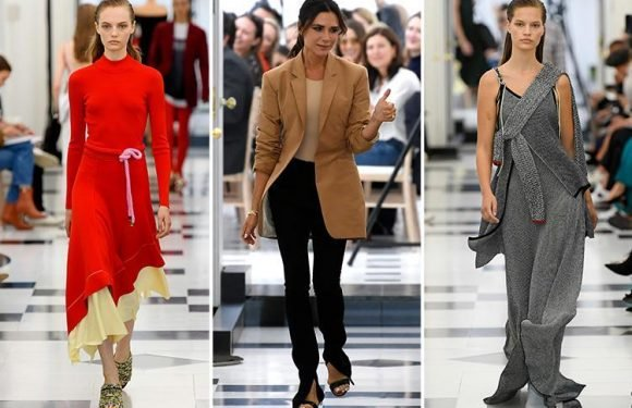 Victoria Beckham makes dazzling London Fashion Week debut with 10th anniversary collection