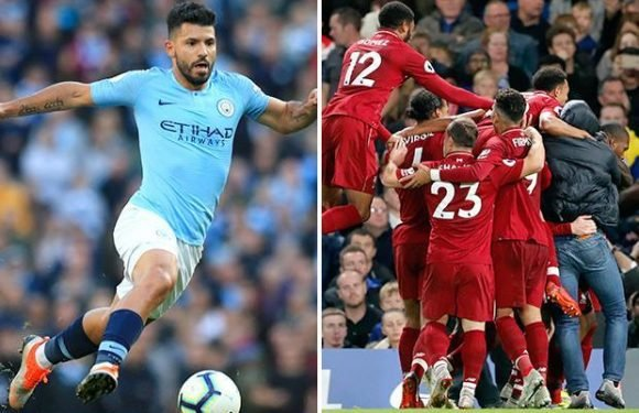 Manchester City striker Sergio Aguero a fitness doubt ahead of top of the table clash against Liverpool